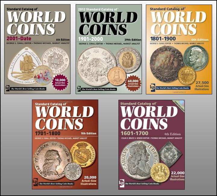 couvertures des Standard Catalogue of World coins