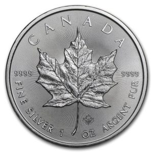 Avers Pièce Argent Canada Maple Leaf 2020