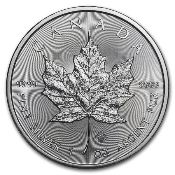 Avers Pièce Argent Canada Maple Leaf 2020