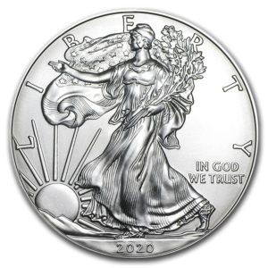 Avers pièces Argent USA American Silver Eagle