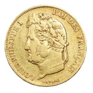 Pièce Or France 20 Francs or Louis Philippe Ier tête laurée 1840 A