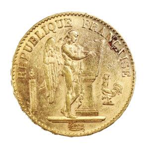 Pièce Or France 20 Francs Génie IIIème République Année 1896 A