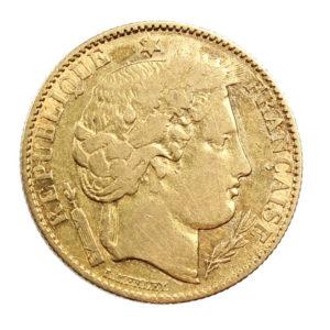 Pièce Or 10 Francs Cérès 1851 A