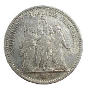 Pièce Argent 5 francs Hercule 1873 A Atelier de Paris
