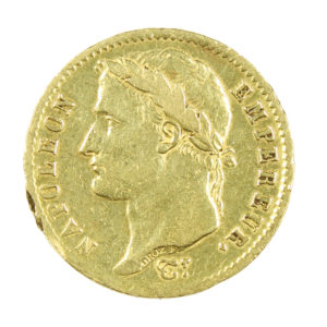 Pièce Or France 20 Francs or Napoléon Ier tête laurée 1808 A