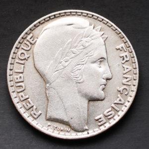 Pièce Argent 10 Francs Turin 1929