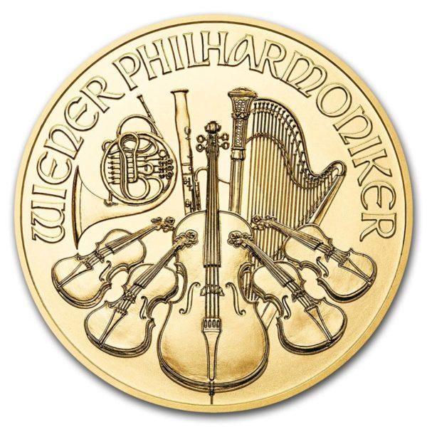 Pièce Or Autriche 1/10 eme d'once Orchestre Philharmonique de Vienne