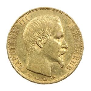 Pièce Or France 20 Francs Napoléon III 1858 A