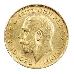 Pièce Or Royaume Uni demi Souverain George V Année 1913