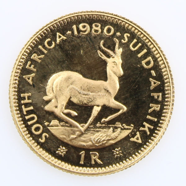 Pièce Or Afrique du Sud 1 Rand Année 1980