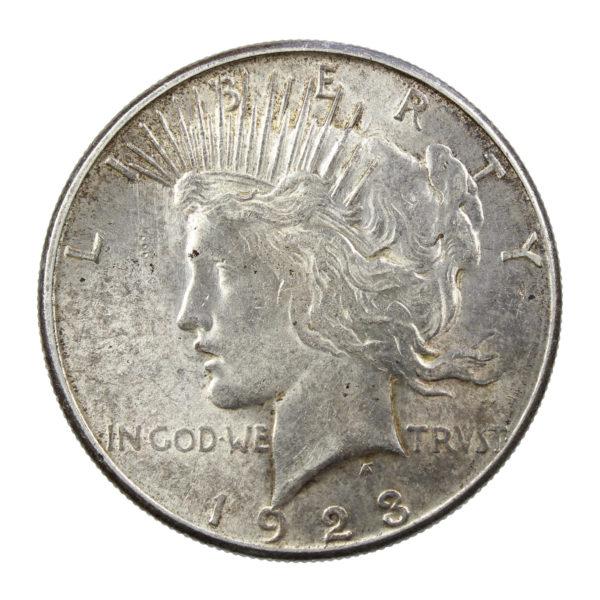 """Pièce Argent Etats-Unis """"Peace dollar"""" 1923"""