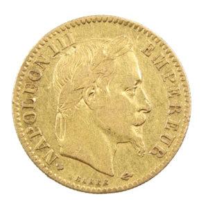 Pièce de 10 Francs Or Napoléon III 1866 BB