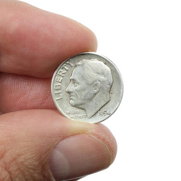 Pièce Argent 10 cents USA Roosevelt Dime 1954