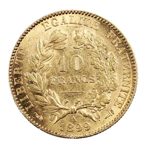 Pièce Or France 10 Francs Or Cérès 1899 IIIème République