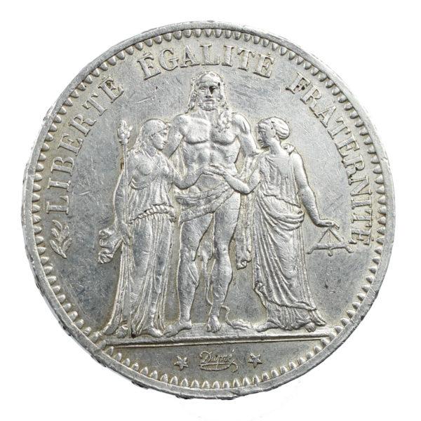 Pièce Argent 5 Francs Hercule Années Variées + Etui Capsule ou Ecrin en Option