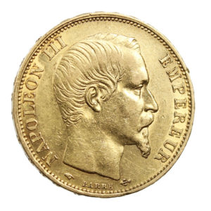 Pièce Or France 20 Francs or Napoléon III tête nue 1860