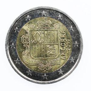 Pièce de Collection 2 Euro Andorre 2019 Armoiries