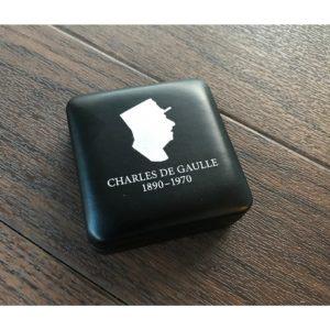 Écrin NOBILE pour 1 pièce de 2 euros Charles de Gaulle + capsule Gratuite