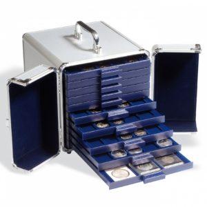 Valisette Numismatique En Aluminium Cargo S 10 Pour 10 Médailliers Smart