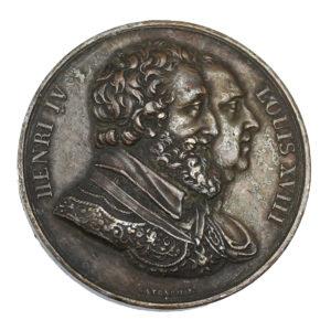Médaille Louis XVIII Rétablissement de la statue de Henri IV le 28 octobre 1817