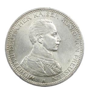 Pièce Argent 5 Mark Guillaume II 1913