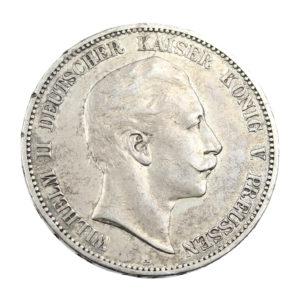 Pièce Argent Allemagne 5 Mark Guillaume II 1907