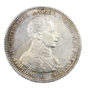 Pièce Argent Allemagne 5 Mark Guillaume II