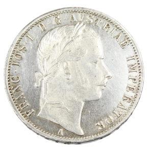 Pièce en Argent Autriche 1 Florin François Joseph I Habsbourg 1861 A Vienne