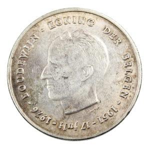 Pièce en Argent Belgique 250 francs Baudouin Ier 25e anniversaire de l'intronisation en néerlandais