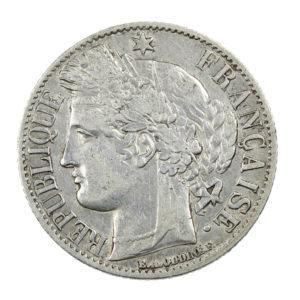 Pièce en Argent France 1 franc Cérès IIIe République 1872 K Bordeaux