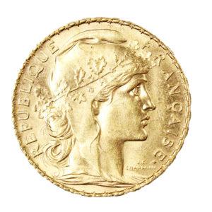 Pièce Or France 20 Francs Marianne Coq Année 1907