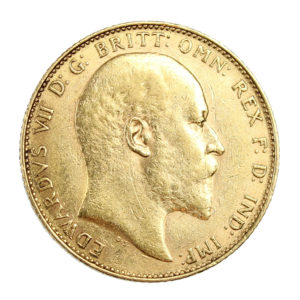 Pièce Or Royaume Uni Souverain Edouard VII Année 1904