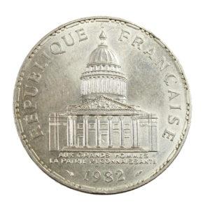 Pièce argent France 100 Francs Panthéon 1982