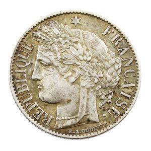 Pièce en Argent France 1 franc Cérès IIIe République 1872 A Paris