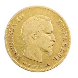 Pièce 10 Francs Or Napoléon III tête nue 1857 A