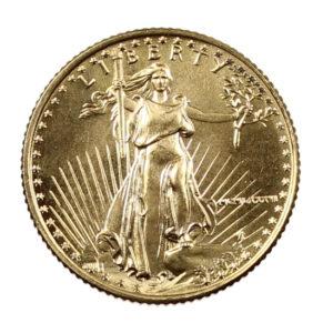Pièce Or 5 Dollars Etats-Unis 1/10 d'once American Gold Eagle Années 1986