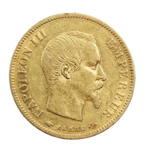 Pièce 10 Francs Or Napoléon III tête nue 1855 A