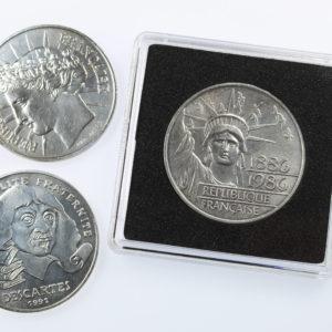 Capsules de protection pour pieces de 100 francs argent