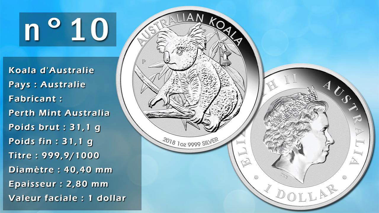Photo de la pièce d'argent d'investissement n°10 :Koala d'Australie - Pays : Australie