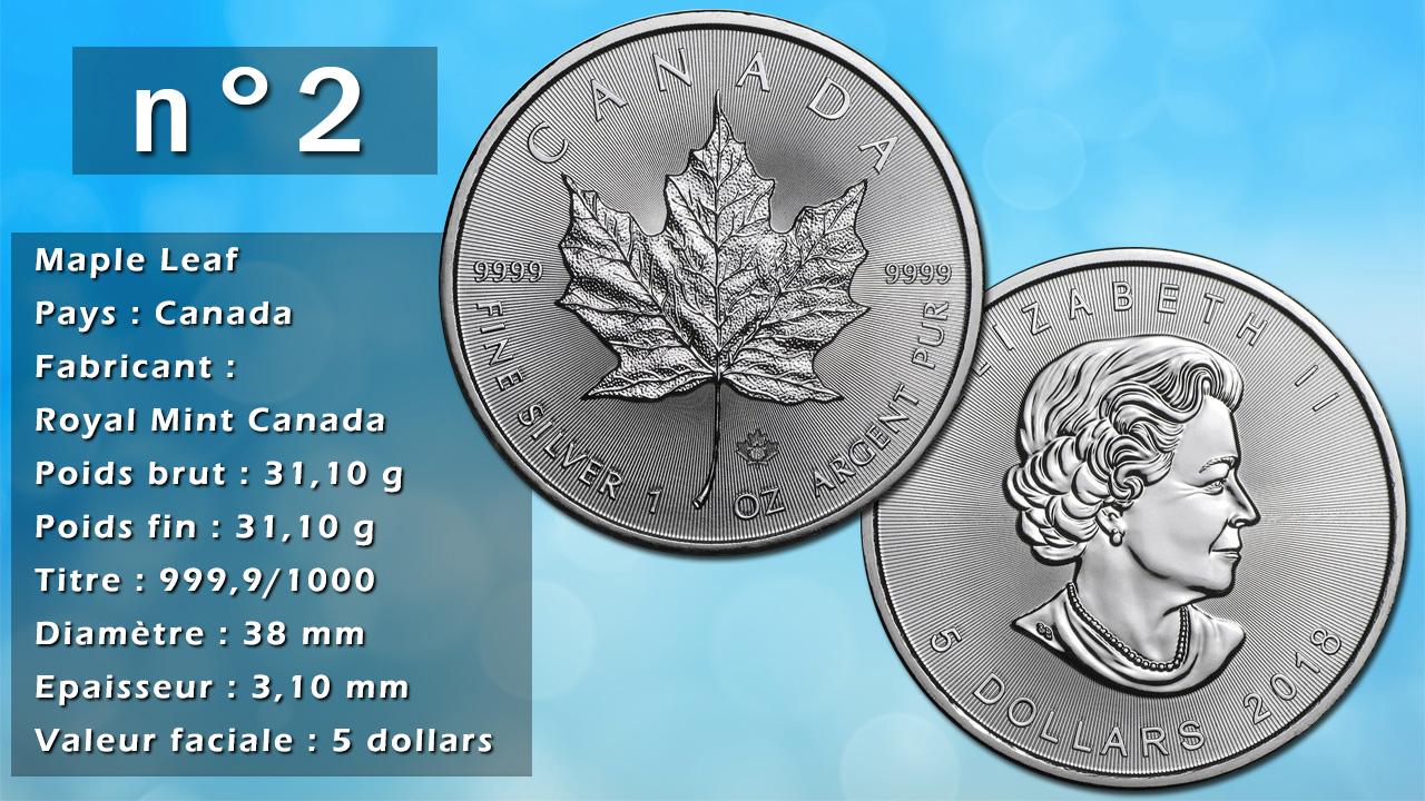 Photo de la pièce d'argent d'investissement n°2 : Maple Leaf - Pays : Canada