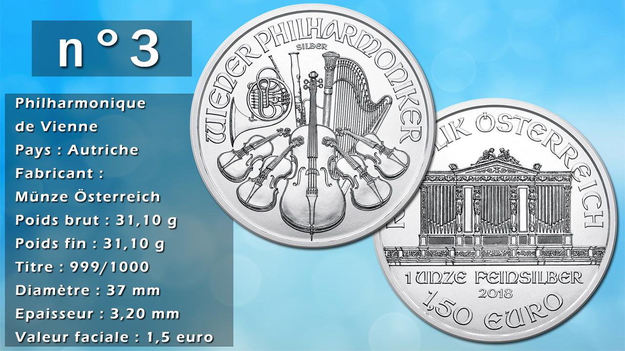 Photo de la pièce d'argent d'investissement n°3 : Philharmonique de Vienne - Pays : Autriche
