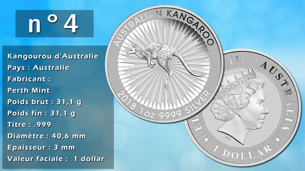 Photo de la pièce d'argent d'investissement n°4 : Kangourou d'Australie - Pays : Australie