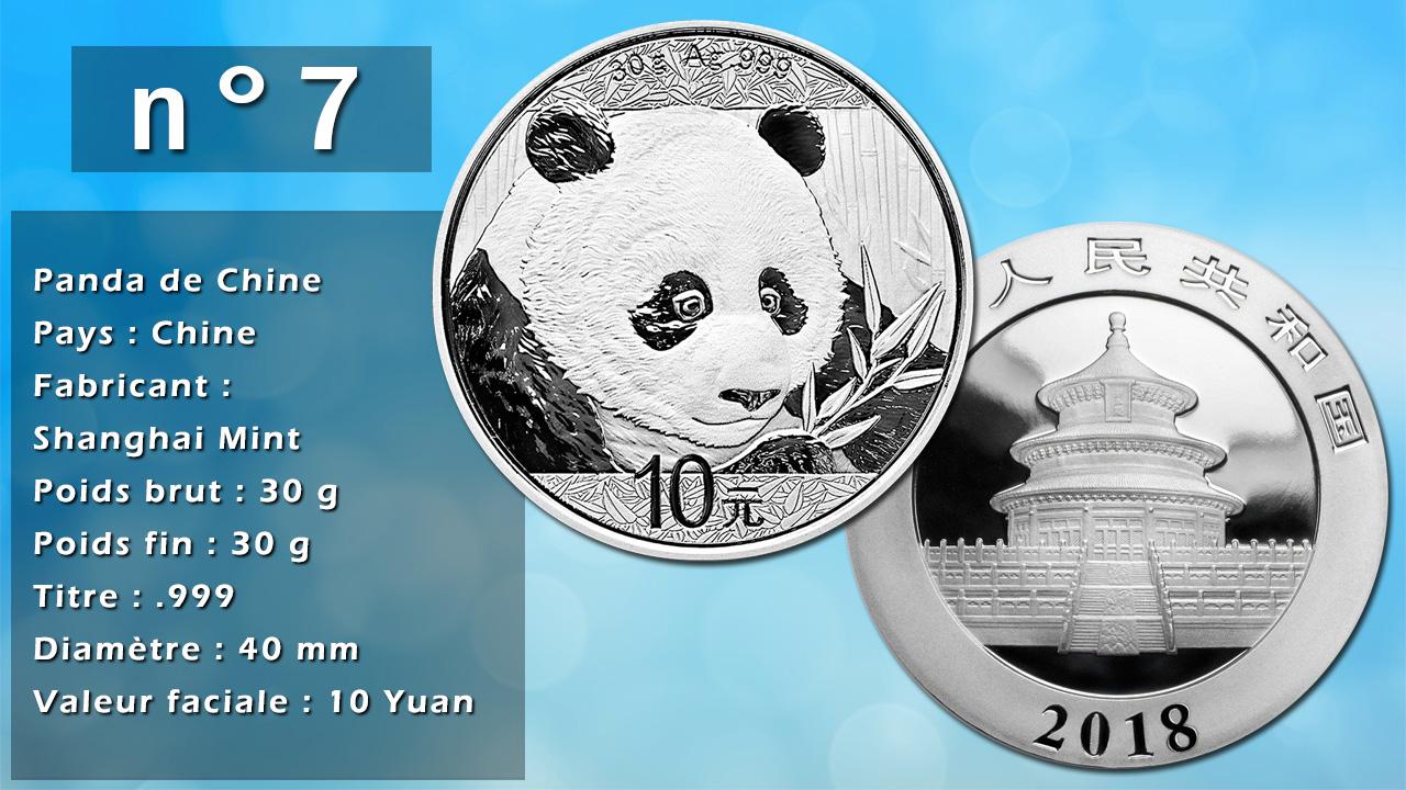 Photo de la pièce d'argent d'investissement n°7 : Panda de Chine - Pays : Chine