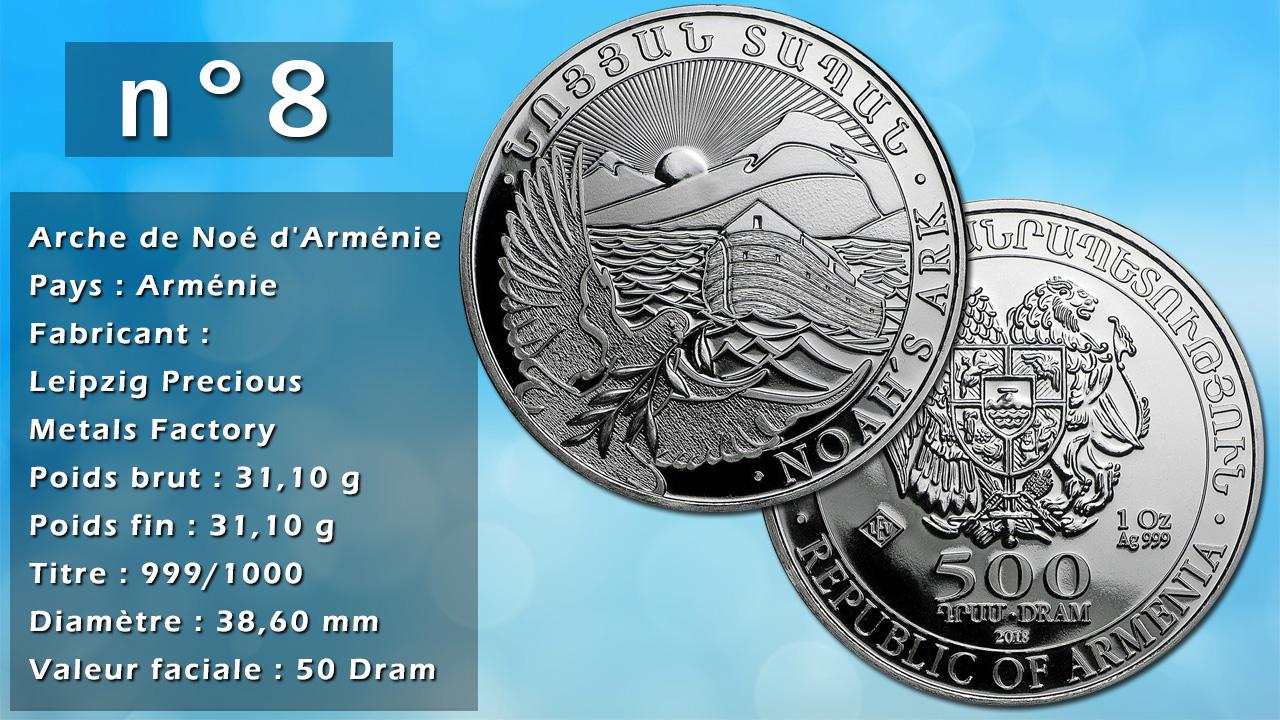 Photo de la pièce d'argent d'investissement n°8 : Arche de Noé d'Arménie - Pays : Arménie