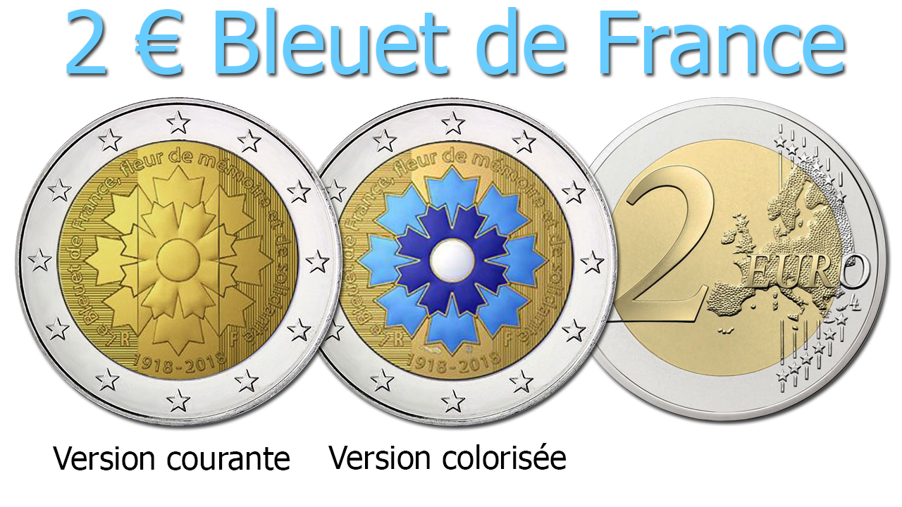 Pièces de 2 euro Bleuet de France 2018