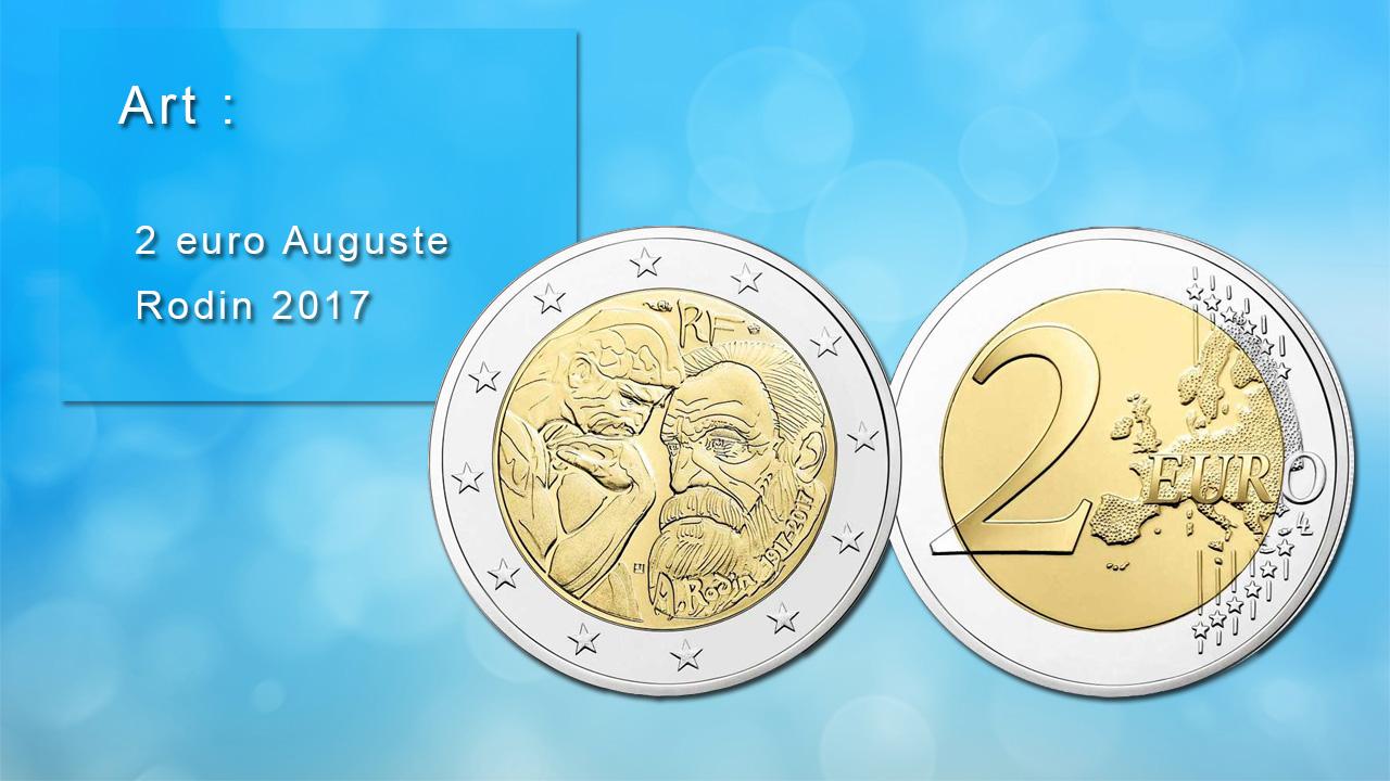 Pièce 2 euro commémorative Auguste Rodin