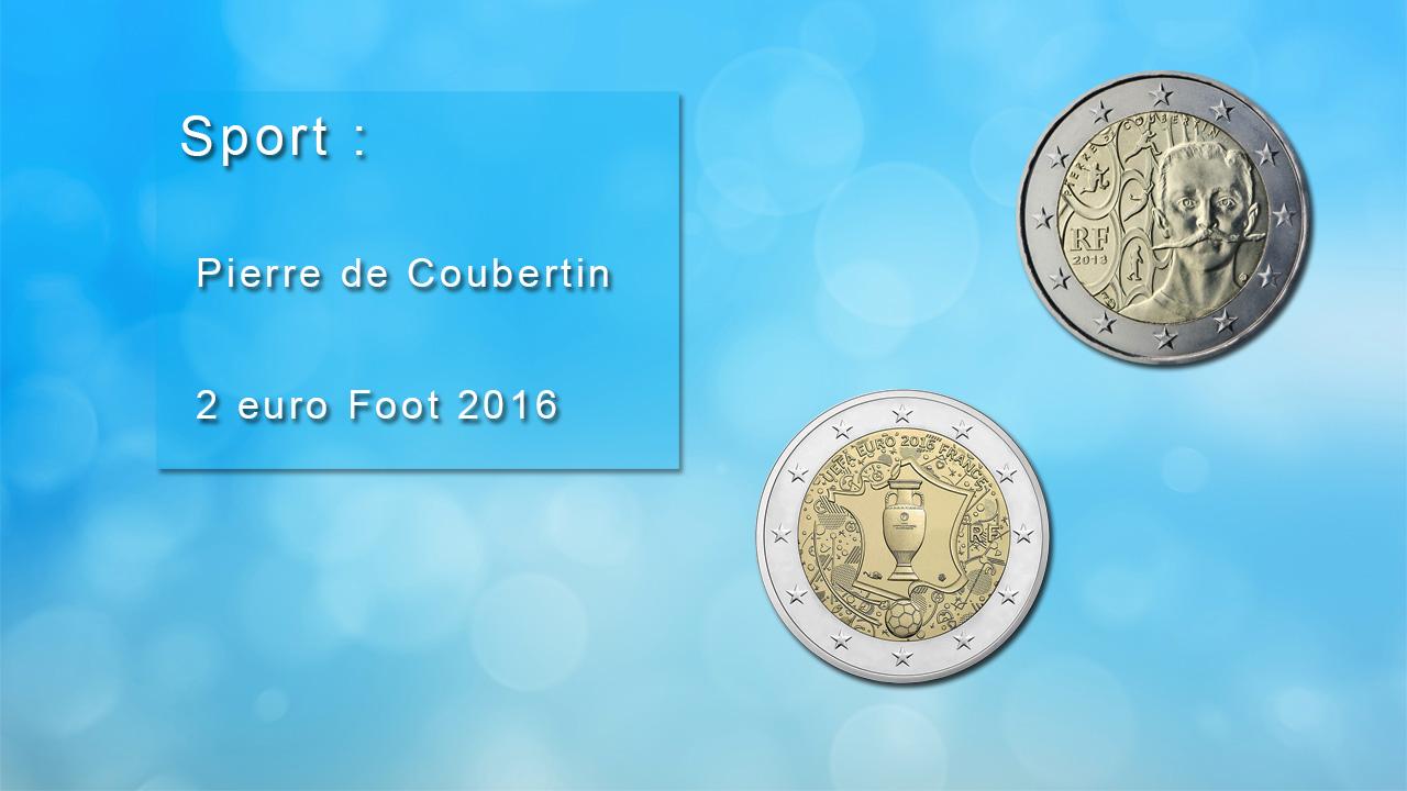Pièces 2 euro commémoratives sur le sport