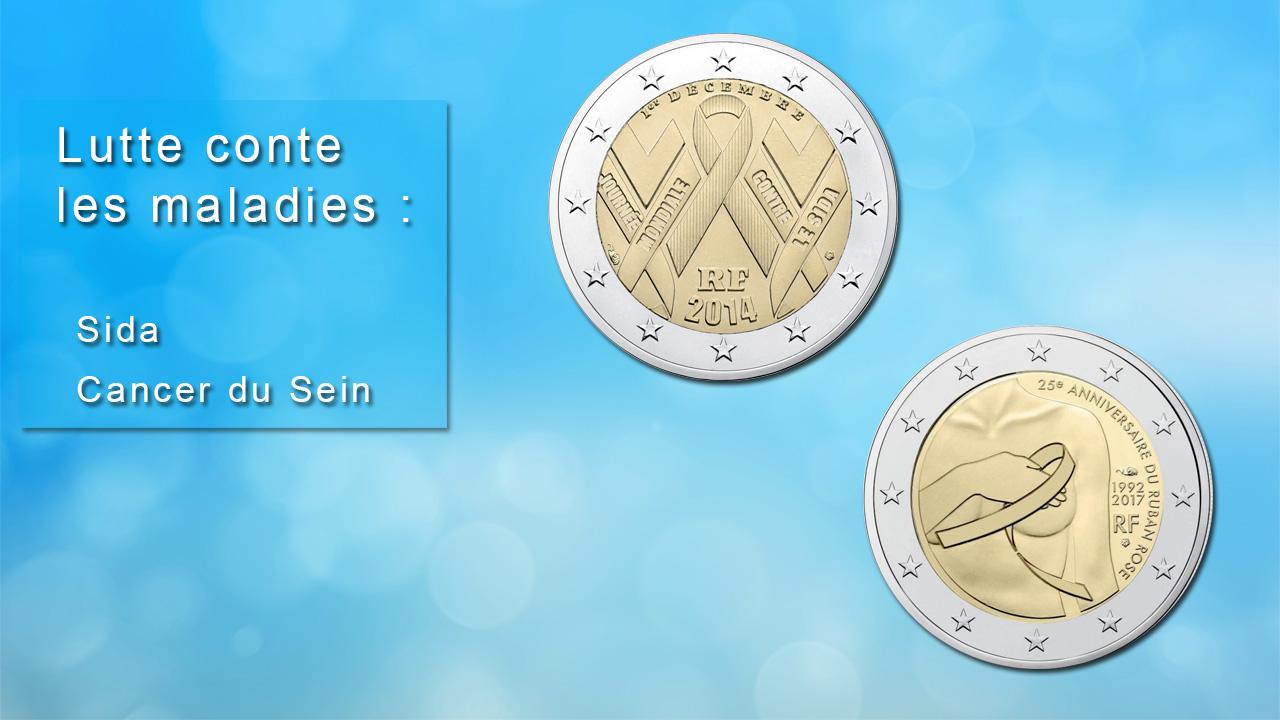 Pièces 2 euro commémoratives sur les maladies