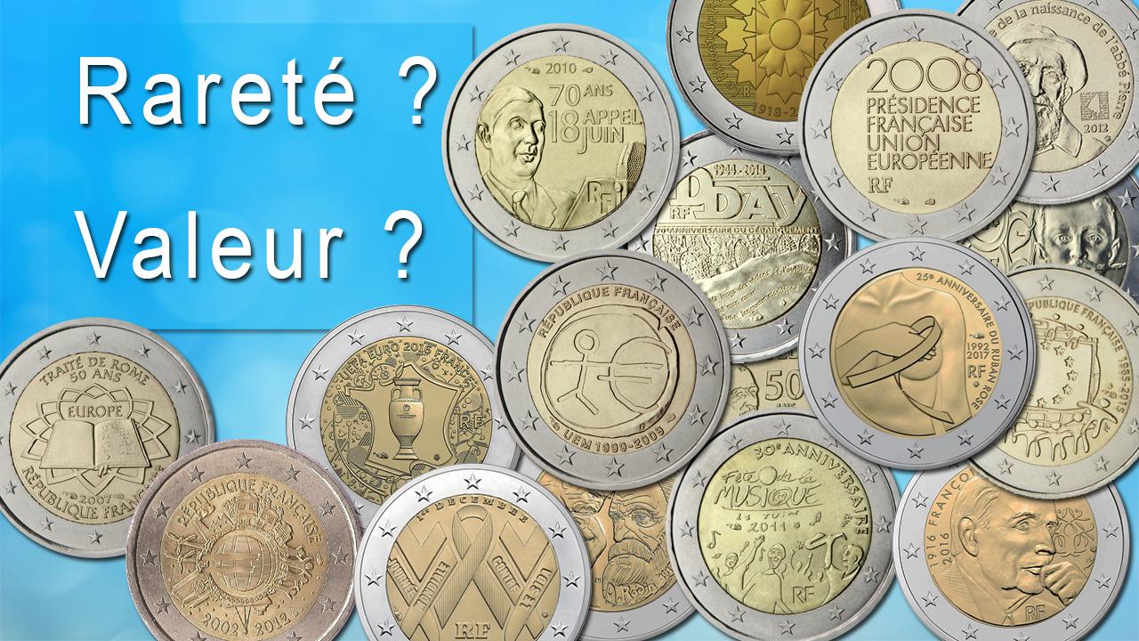 Pièces françaises de 2 euro : rareté et valeur