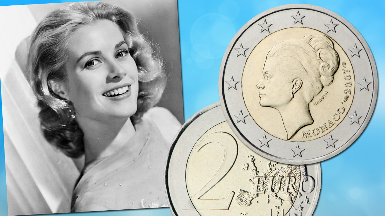La pièce de 2 euro Monaco 2007 Grace Kelly est la pièce commémorative de 2€ la plus rare
